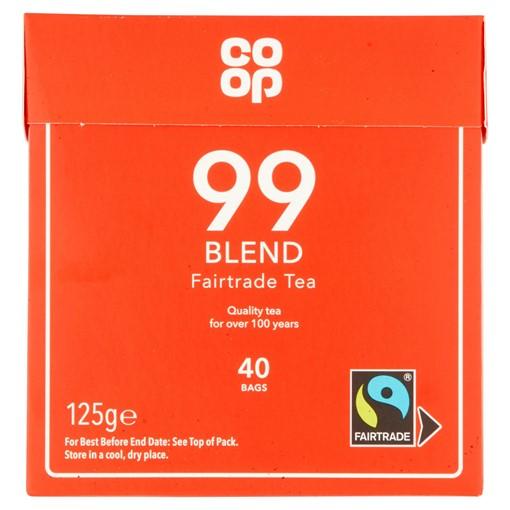Picture of Co-op 99 Blend Fairtrade Tea 40 Bags 125g