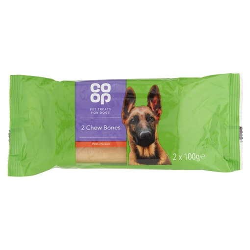 Picture of Co Op Pet Treats for Dogs Chew Bones with Chicken 2 x 100g