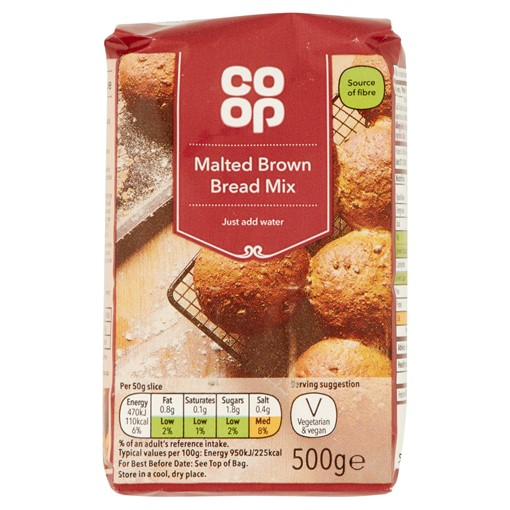 Picture of Co-op Malted Brown Bread Mix 500g