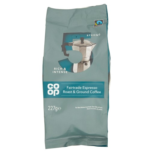 Picture of Co Op Fairtrade Espresso Roast & Ground Coffee 227g