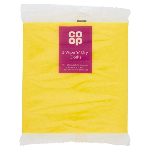 Picture of Co-op 3 Wipe 'n' Dry Cloths