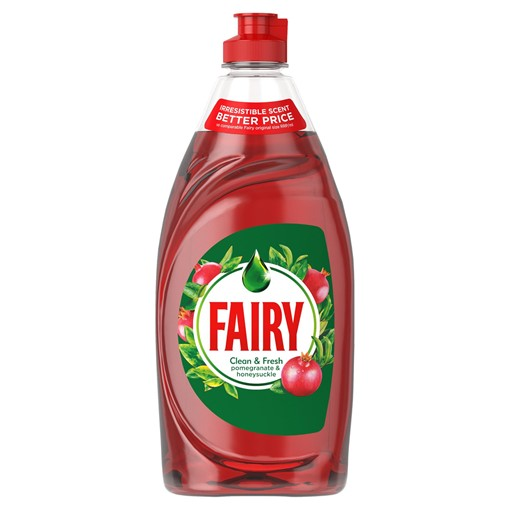 Picture of Fairy Clean & Fresh Washing Up Liquid Pomegranate & Honeysuckle 520 ml