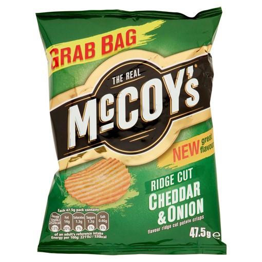 Picture of McCoy's Cheddar & Onion Flavour Crisps 47.5g