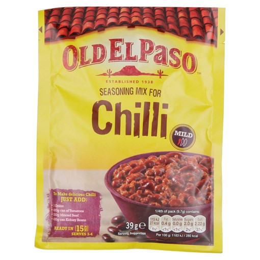 Picture of Old El Paso Chili Con Carne Seasoning Mix 39g