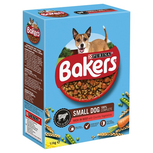 Picture of BAKERS ADULT Small Dog Beef with Vegetables Dry Dog Food 1.1kg