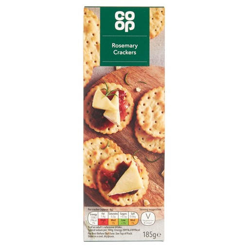 Picture of Co Op Rosemary Crackers 185g