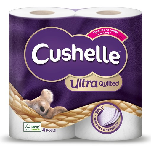 Picture of Cushelle Ultra Quilted Toilet Roll 4 Rolls
