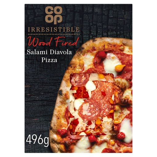 Picture of Co-op Irresistible Wood Fired Salami Diavola Pizza 496g