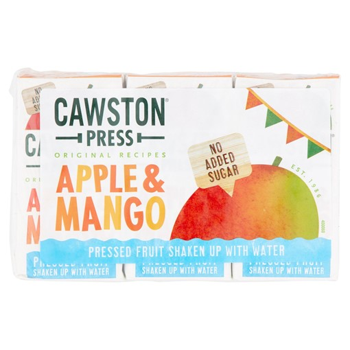Picture of Cawston Press Original Recipes Apple & Mango 3 x 200ml