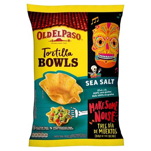 Picture of Old El Paso Tortilla Bowls Sea Salt 150g