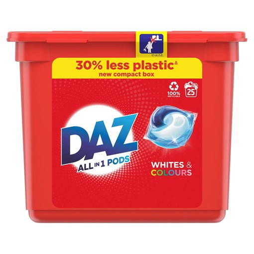 Picture of Daz 3in1 Pods for Whites and Colours Washing Liquid Capsules 27 Washes