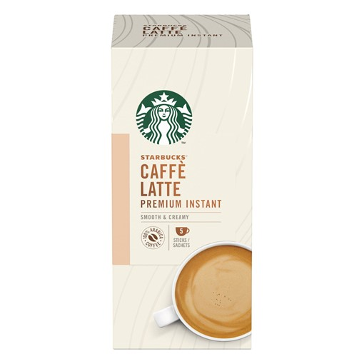 Picture of STARBUCKS Caffe Latte Premium Instant Coffee, 70g Box of 5 x 14g Sachets