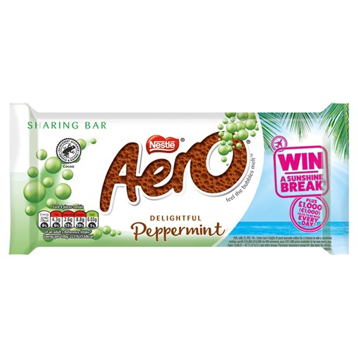 Picture of Aero Peppermint Mint Chocolate Sharing Bar 90g