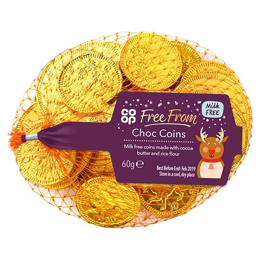 Picture of Co Op Free From Choc Coins 60g