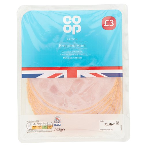 Picture of Co-op British Breaded Ham 12 Slices 280g