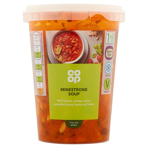Picture of Co Op Italian Menu Minestrone Soup 600g