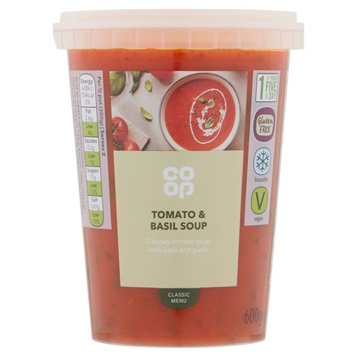 Picture of Co Op Classic Menu Tomato & Basil Soup 600g