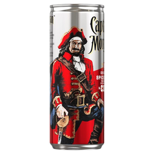 Picture of Captain Morgan Spiced Gold Rum and Cola 250ml