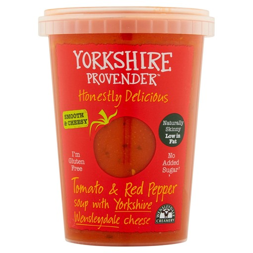 Picture of Yorkshire Provender Tomato & Red Pepper Soup with Yorkshire Wensleydale Cheese 600g
