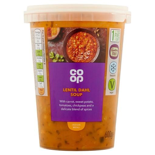 Picture of Co Op Lentil Dahl Soup 600g