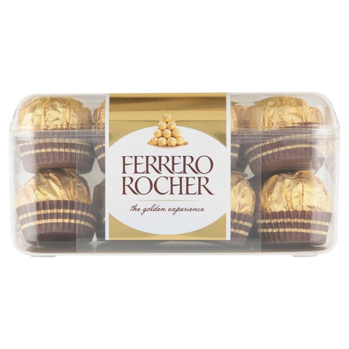 Picture of Ferrero Rocher Chocolate Pralines Gift Box of Chocolate 16 Pieces (200g)