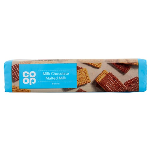 Picture of Co-op Milk Chocolate Malted Milk Biscuits 250g