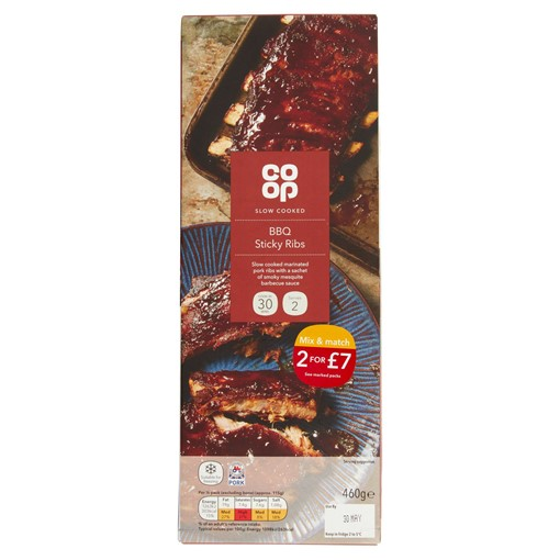 Picture of Co-op Slow Cooked BBQ Sticky Ribs 460g