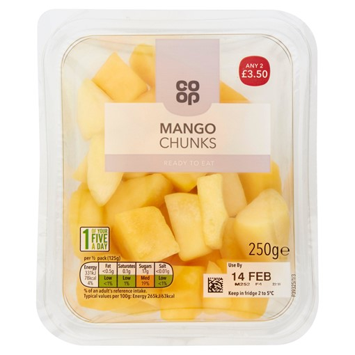 Picture of Co-op Mango Chunks 250g