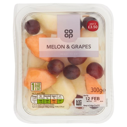 Picture of Co-op Melon & Grapes 300g
