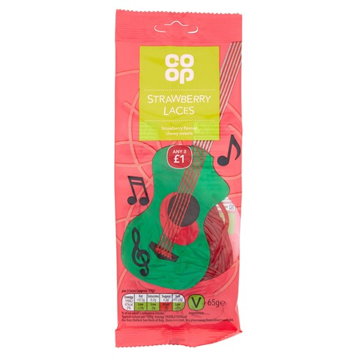 Picture of Co-op Strawberry Laces 65g