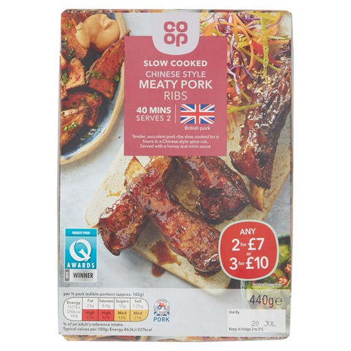 Picture of Co-op Slow Cooked Chinese Style Meaty Pork Ribs 440g
