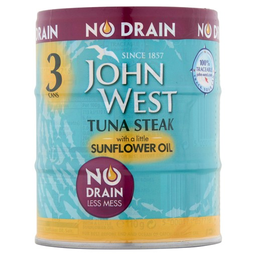 Picture of John West No Drain Tuna Steak with a Little Sunflower Oil 3 x 110g