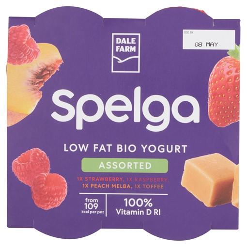Picture of Dale Farm Spelga Low Fat Yogurt Assorted 4 x 125g