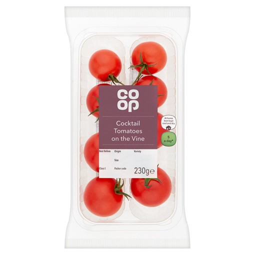 Picture of Co Op Cocktail Tomatoes on the Vine 230g