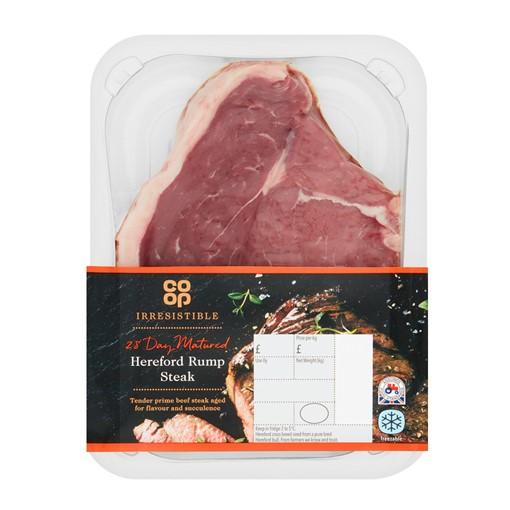 Co-op Irresistible Hereford Rump Steak