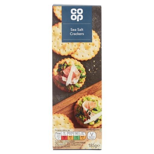 Picture of Co-op Sea Salt Crackers 185g