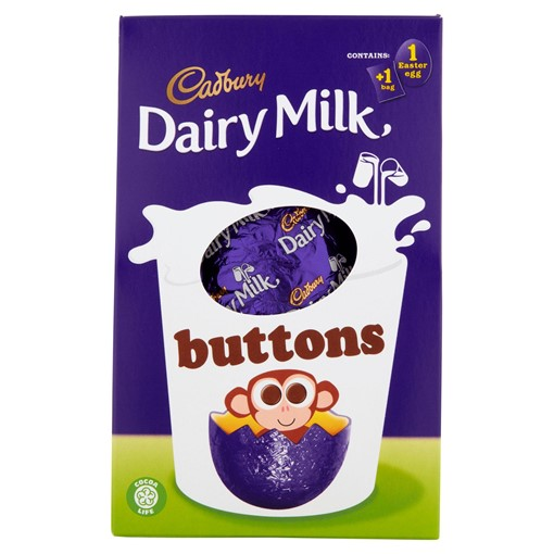 Picture of Cadbury Dairy Milk Buttons Medium Easter Egg 128g
