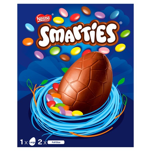 Picture of Smarties Milk Chocolate Large Easter Egg 256g