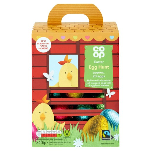 Picture of Co-op Fairtrade Easter Egg Hunt Basket 340g