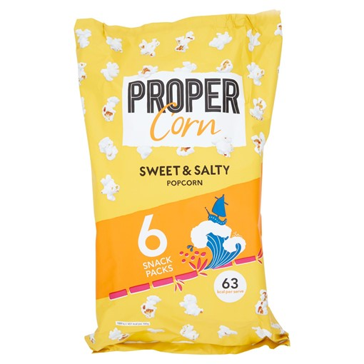 Picture of PROPERCORN Sweet & Salty Popcorn Multipack 6 x 14g