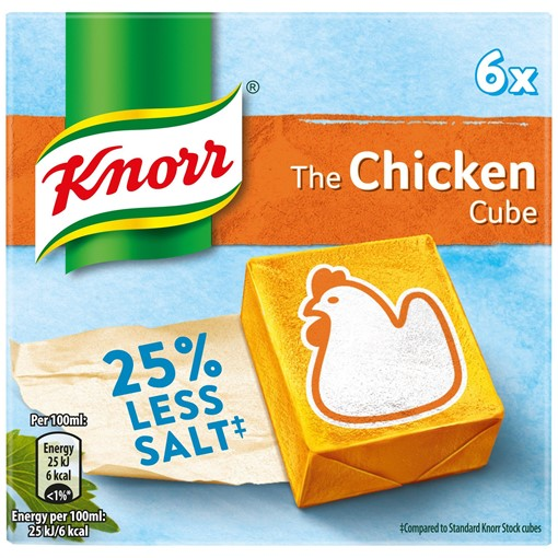 Picture of Knorr Chicken Reduced Salt Stock Cubes 6 x 9g