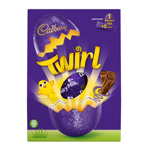 Picture of Cadbury Twirl Large Shell Egg 237G