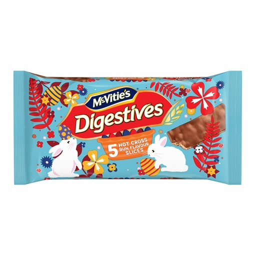 Picture of McVitie's Digestives 5 Hot Cross Bun Flavour Slices 114.1g