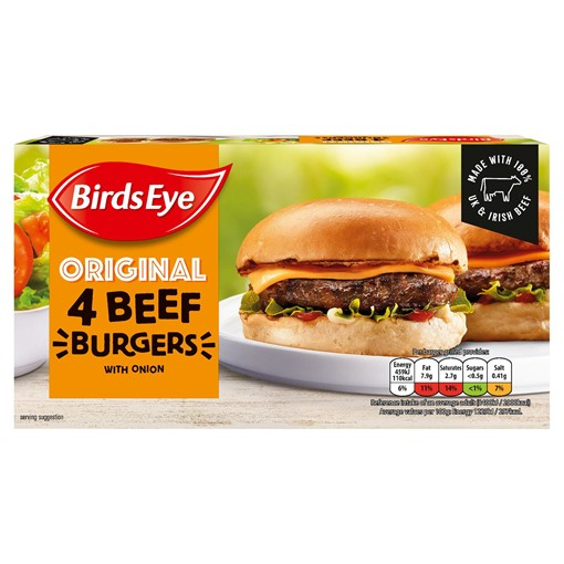 Picture of Birds Eye Original 4 Beef Burgers with Onion 227g