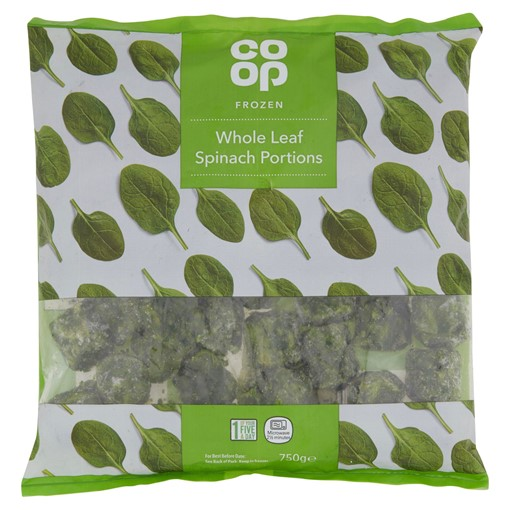 Picture of Co-op Frozen Whole Leaf Spinach Portions 750g