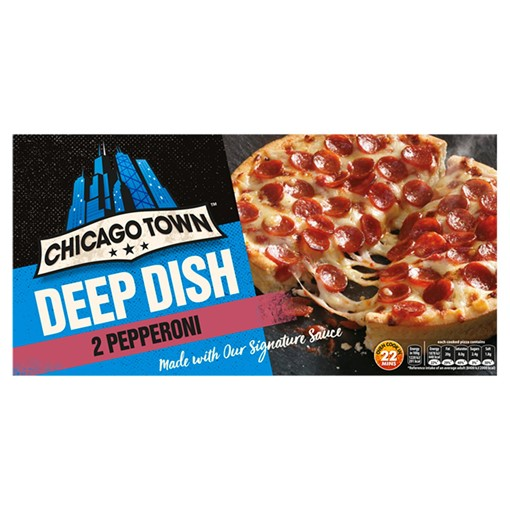 Picture of Chicago Town 2 Deep Dish Pepperoni Pizzas 2 x 160g (320g)