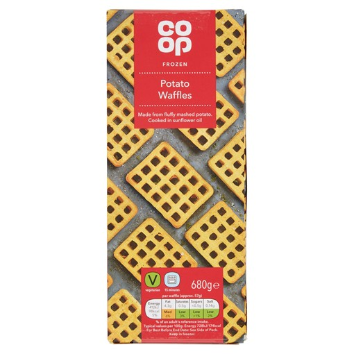 Picture of Co Op Frozen Potato Waffles 680g