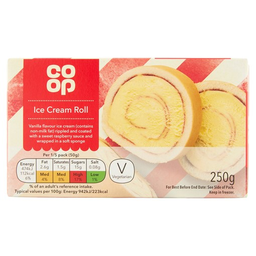 Picture of Co Op Ice Cream Roll 250g