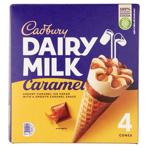 Picture of Cadbury Dairy Milk Caramel Ice Cream Cones 4 x 100ml