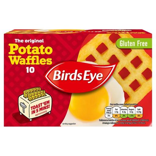Picture of Birds Eye 10 The Original Potato Waffles 567g